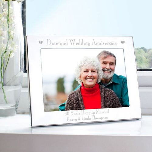 Diamond Anniversary Landscape Photo Frame